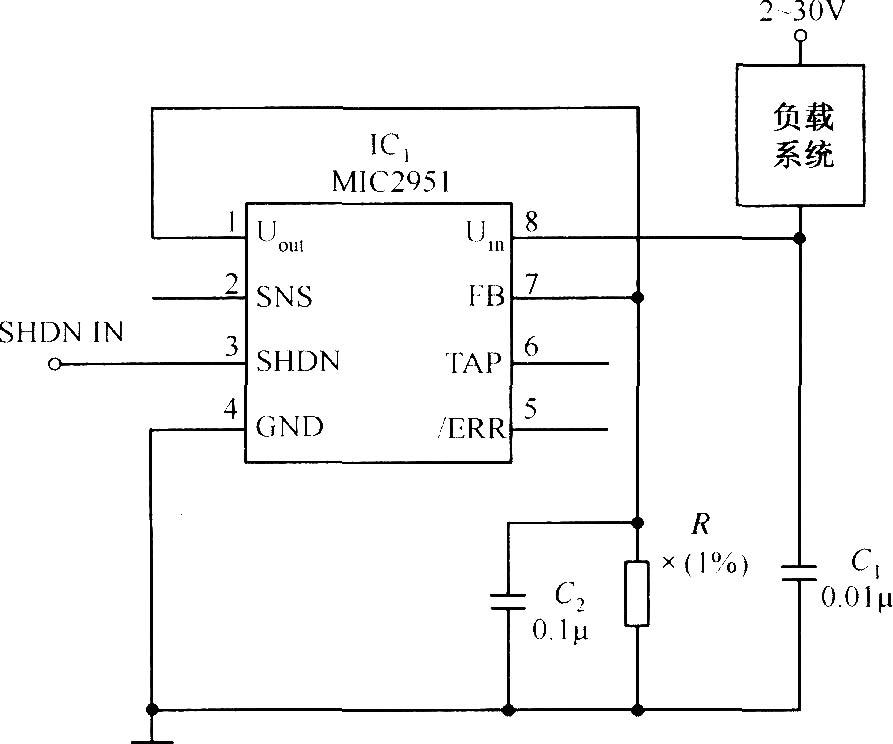 MIC2951构成的低漂移恒流源电路