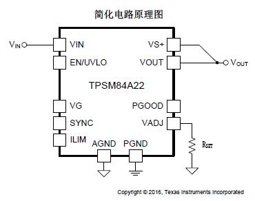 TPSM84A22  SWIFTTM 电源模块