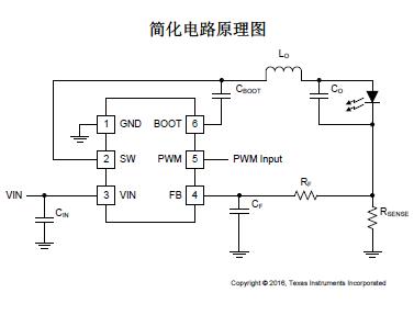TPS54200WLED 驱动器