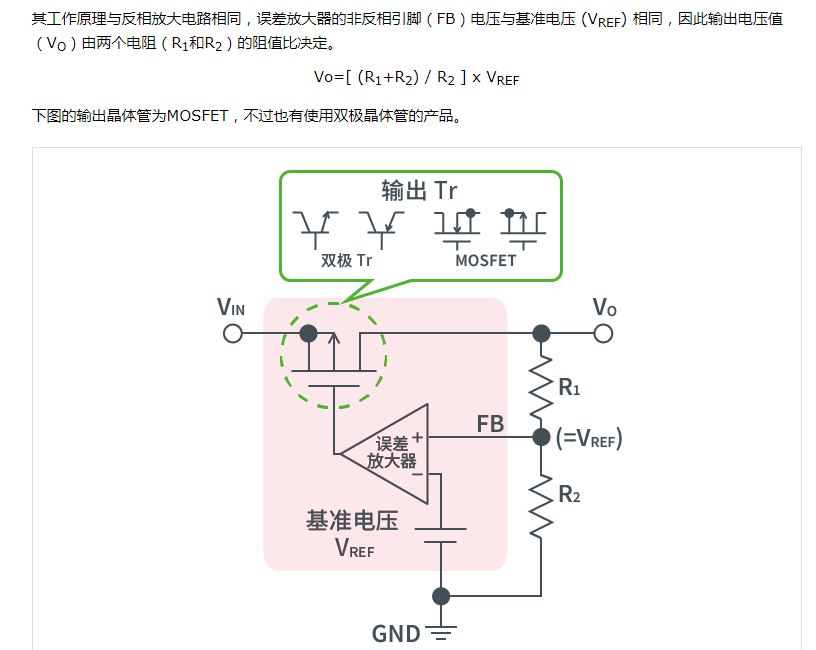 线性稳压器的内部电路与构成分析
