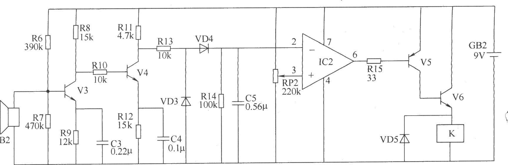 超声波遥控开关电路