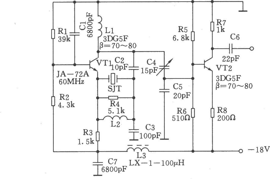 60MHz晶体振荡器