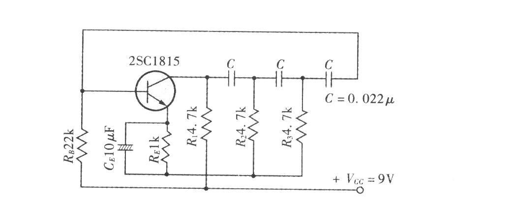 移相式振荡电路实例