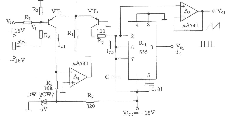 指數式壓控振蕩器(555)