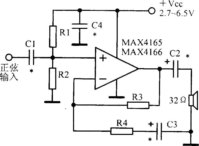 低功耗单电源输入输出运放电路