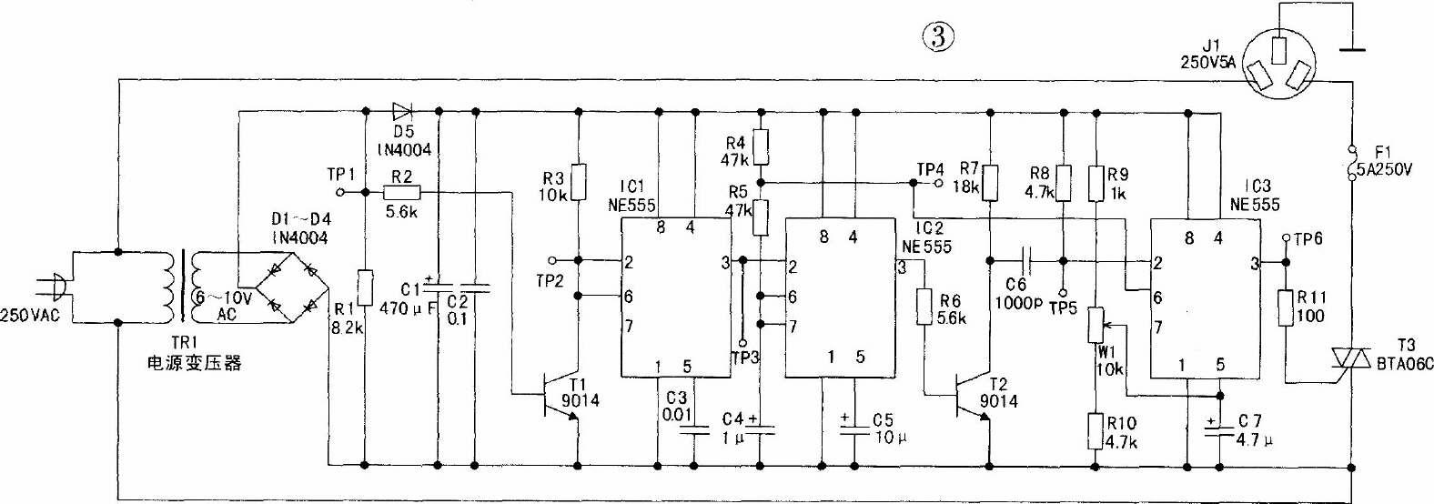 可控硅过零触发调压器