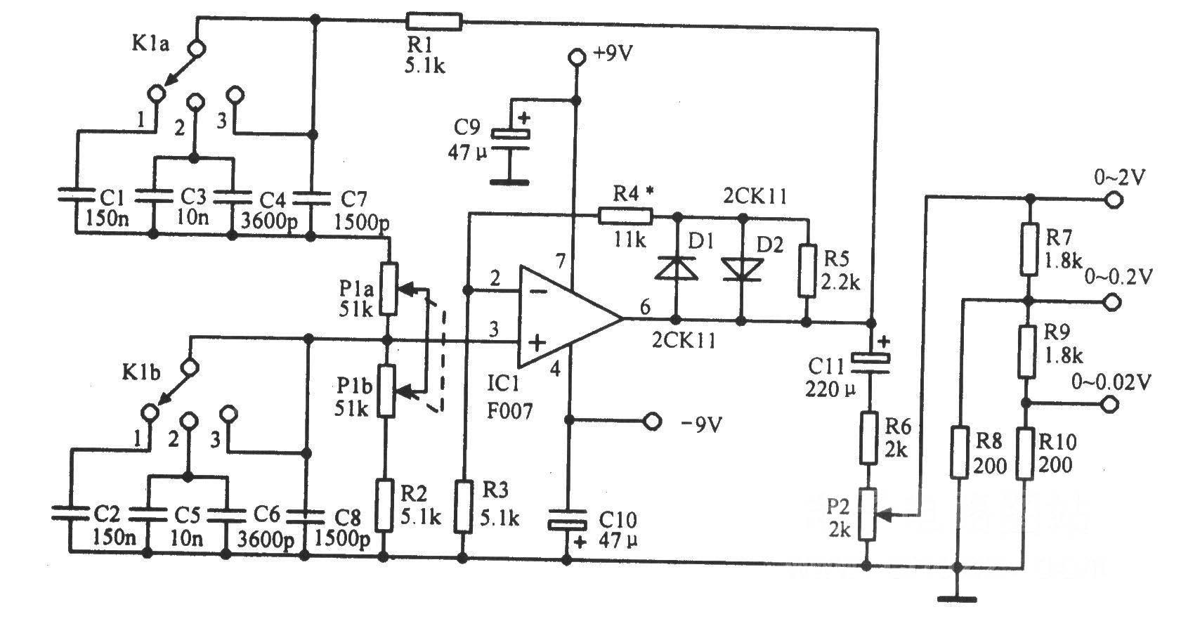 文氏电桥振荡器及其等效电路