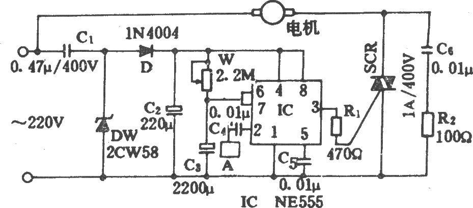 触摸式电风扇定时电路