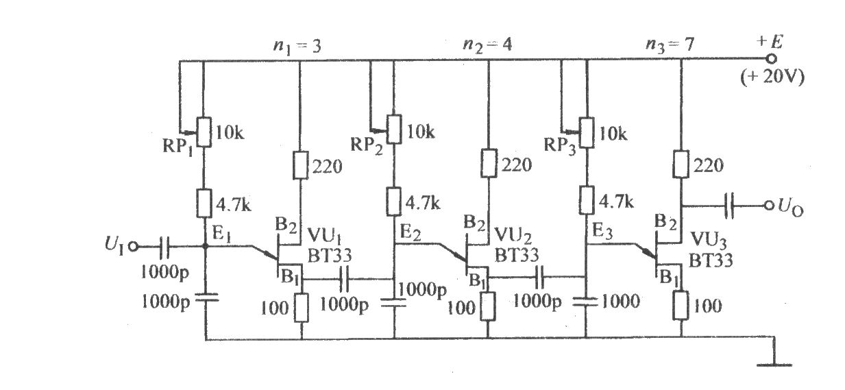 单结晶体管三级分频电路