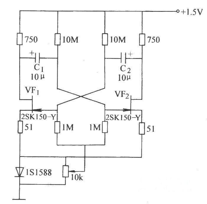 场效应晶体管低压振荡电路