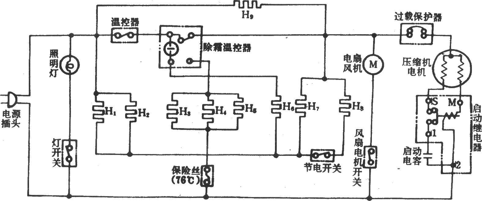 日立r-197h问冷式电冰箱-电路图-aet-北大中文核心-最