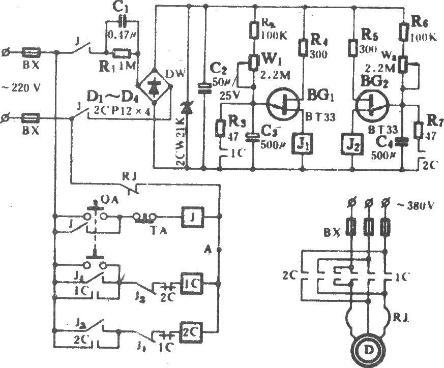 换气扇定时控制电路