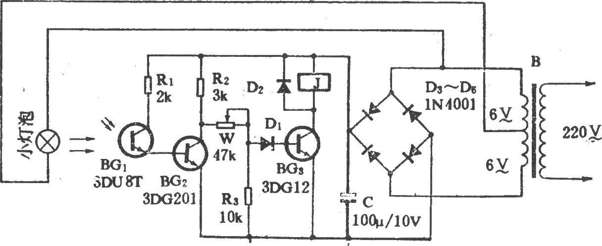 磨房换气扇光控电路