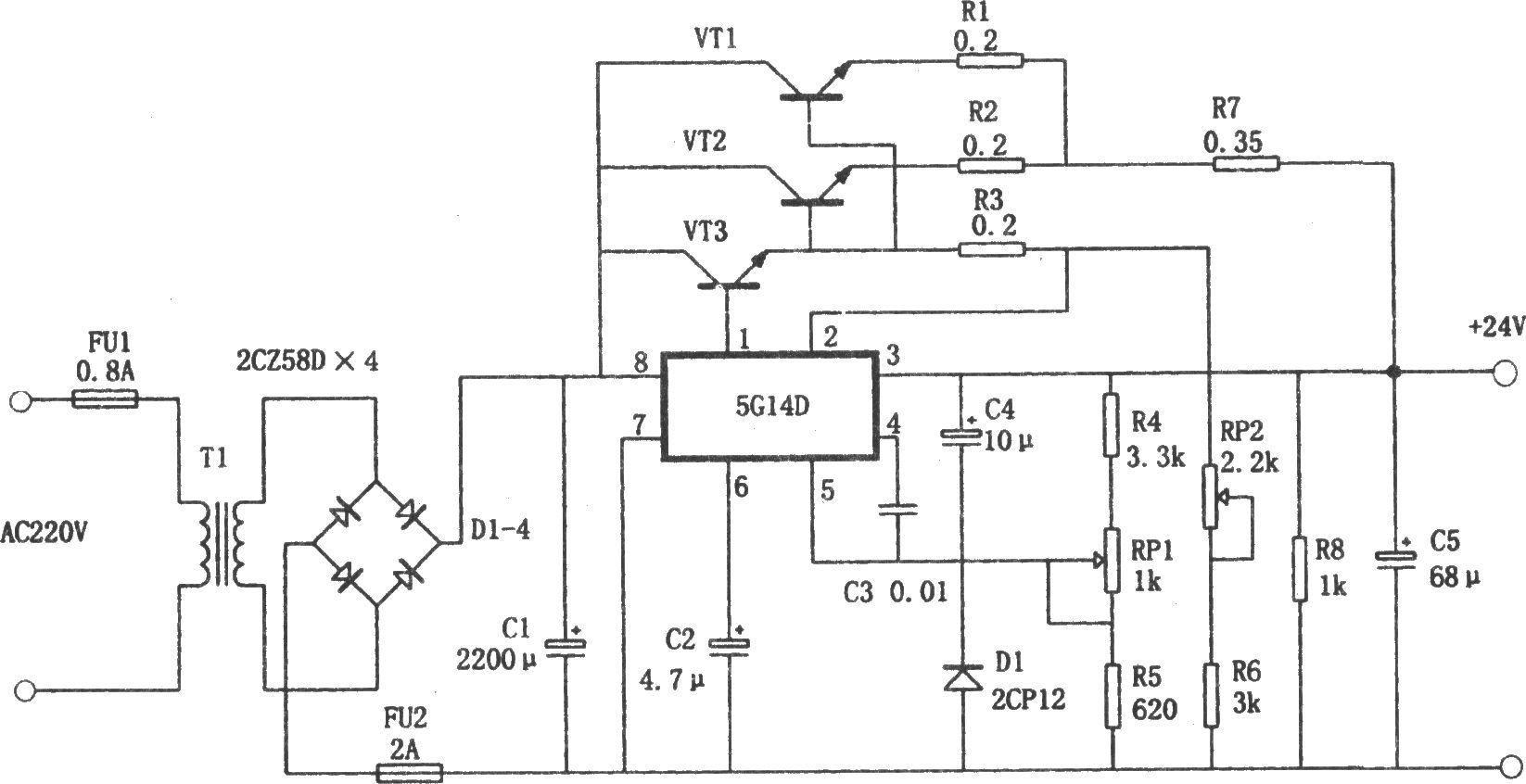 9a稳压电源-电路图-aet-北大中文