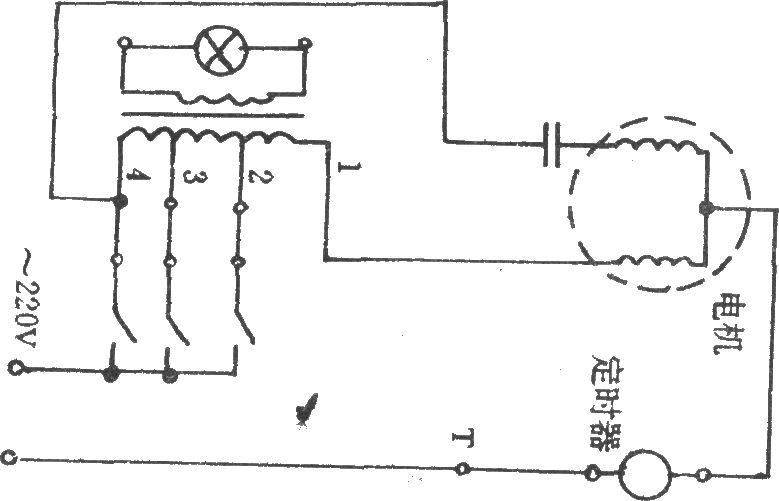 两级微风档的三速电风扇电路