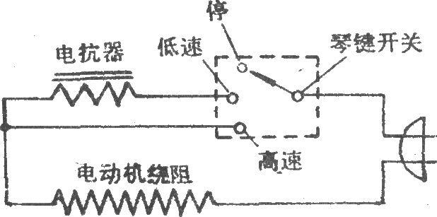 电风扇电抗器调速电路