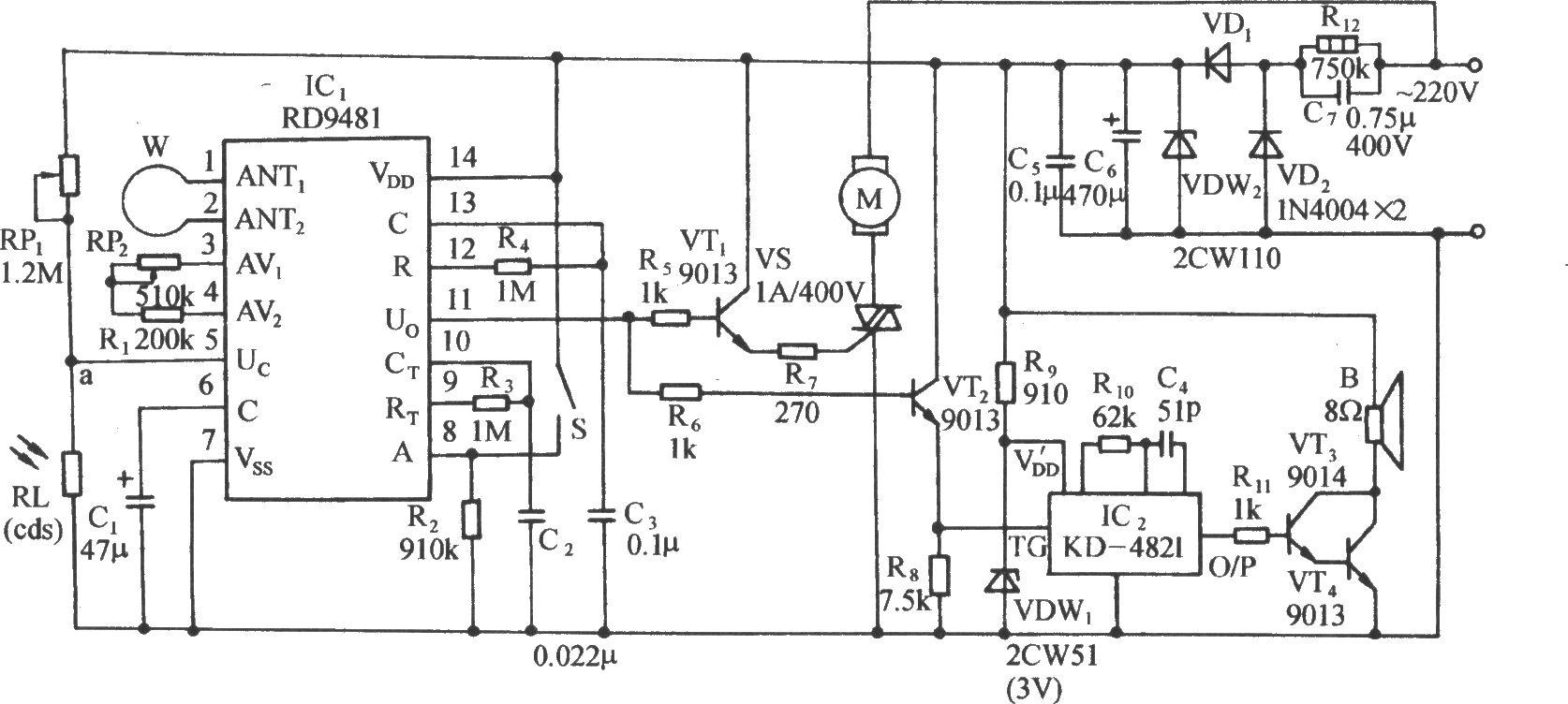 可控硅控制电路,音乐发声和放,大电路,交流降压整流电路等.