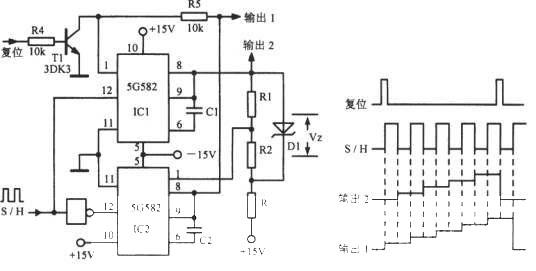 采样/保持电路组成的阶梯波振荡器