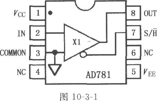 AD781是高速单片采样保持放大器(SHA),它确保在整个温度范围内有最大700ns采样时间达到0.01%,规定和测试保持模式总谐波失真和保持模式信号噪声与失真。AD781包含一个单位增益放大器、一个自纠正功能结构电路,它能够使保持误差最小,以保证在保持模式下在整个温度范围内放大器的精确度。AD781自身包含所有元件而无需外围元件和调节。低功耗、8脚小型封装和芯片完整性使之成为高度紧凑电路板的理想选择元件,而极好的线性、保持模式DC和动态特性使得其成为高速12bit和14bit高速模拟一数字变换器的理想选