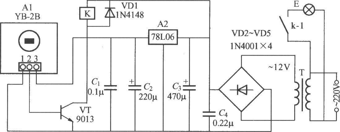 热释电红外感应自动灯电路(10)