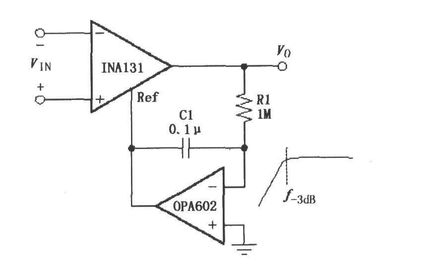 由ina131构成的交流耦合仪表放大器-电路图-aet-北大