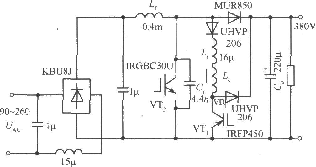 100kHz600W功率因数校正电路
