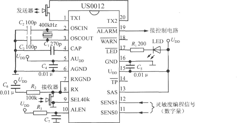 简易的超声波干扰探测仪(基于DSP和模糊逻辑技术的超声波干扰探测