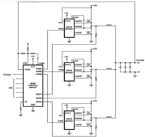主板三相供电和双相供电图-电路图-aet-北大中文核心