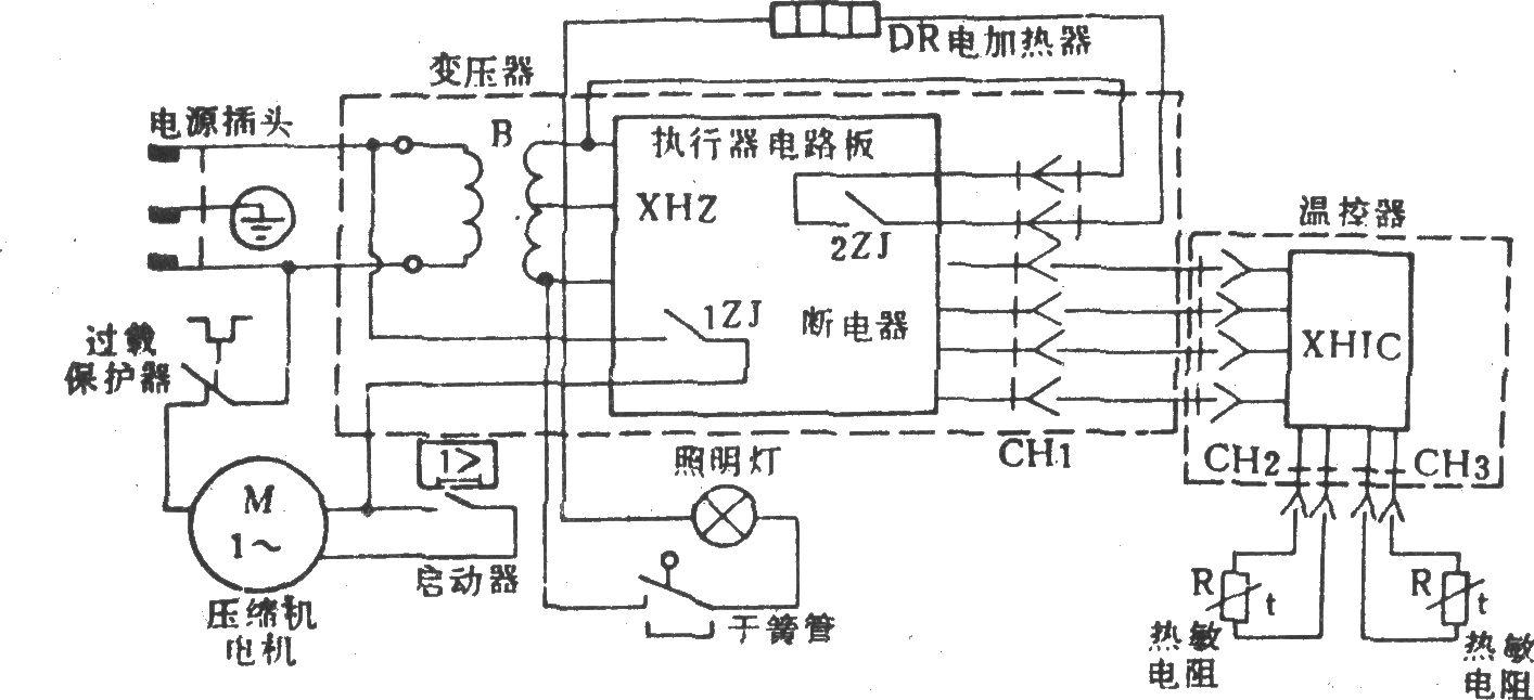友谊牌bcd-200电冰箱-电路图-aet-北大中文核心期刊