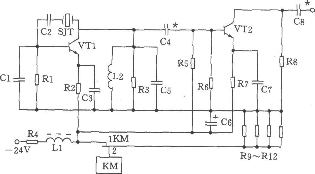 70MHz并联晶体振荡器