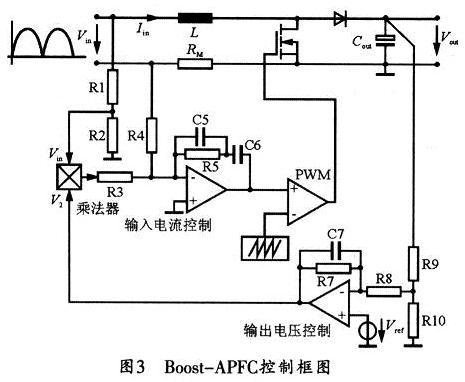 基于L6562的临界工作模式下的Boost-APFC电路的典型拓扑结构
