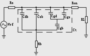 MOSFET导通时的等效电路图