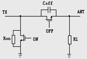 开关截止一侧的小信号等效电路