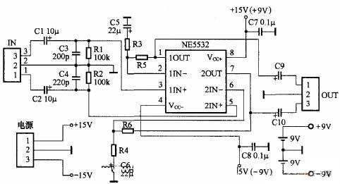 NE5532设计的小功率教程及教程放大器flash3d设计耳机电路视频图片