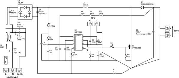 NCP1653 CCM PFC 控制器用于300W 应用