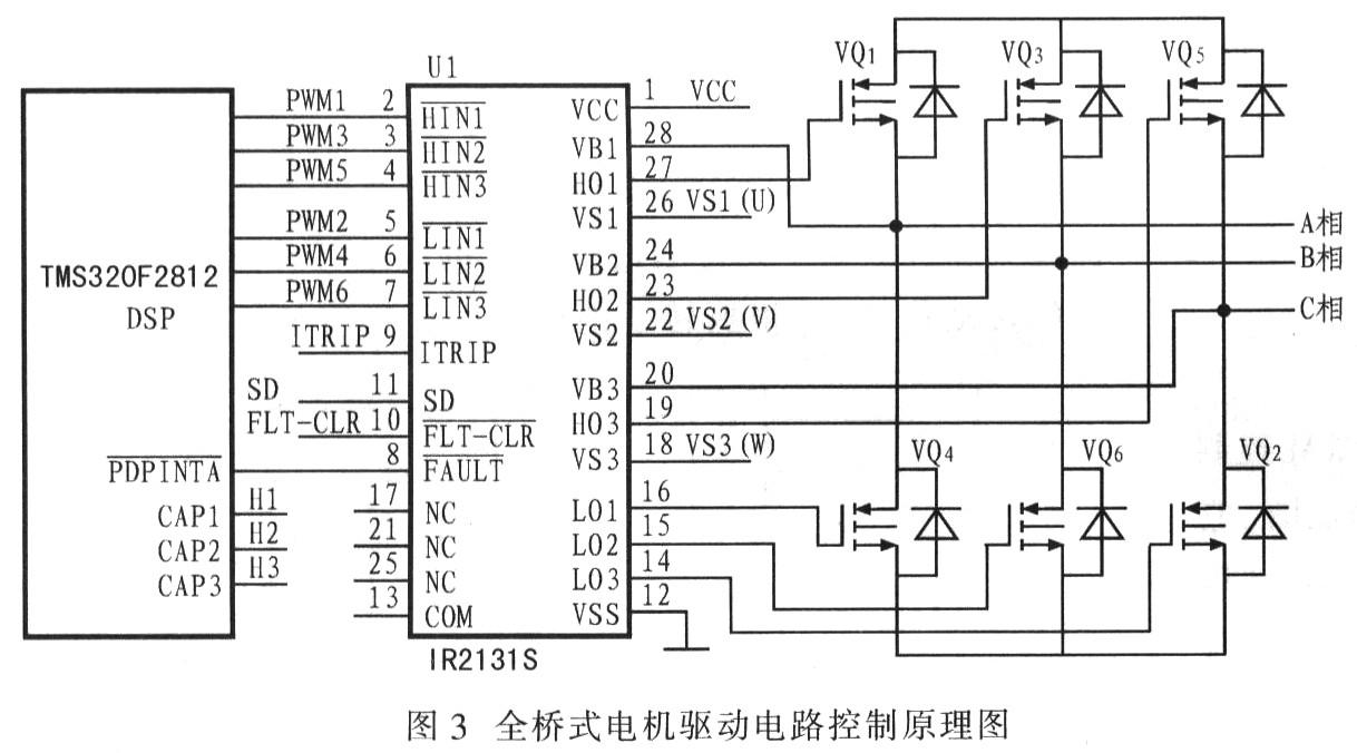 电机驱动电路控制原理图