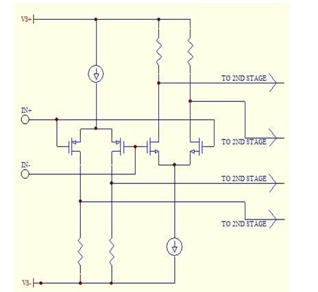 图2:轨到轨工作的双输入级。