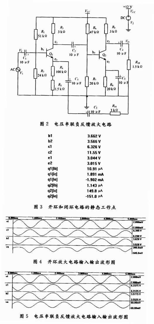 基于protel 99 se的负反馈放大电路分析