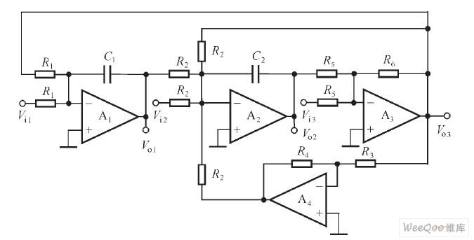 四运放多功能二阶电路