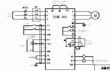 汇川300t5.5b-8 端子接线图