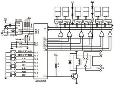 继电器控制电路完成弱电对强电220v控制以完成对电铃