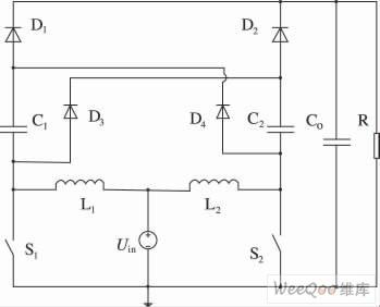 高升压比交错并联Boost电路结构图
