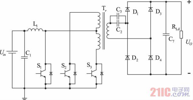 图1 推挽式Boost DC/DC 变换器