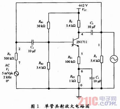 multisim 10在单管共射放大电路中的应用