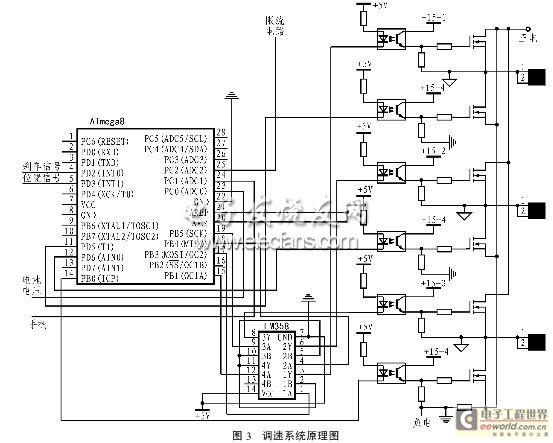 无刷直流电机调速控制系统电路