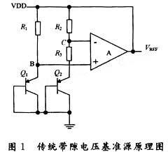 传统带隙基准源电路图