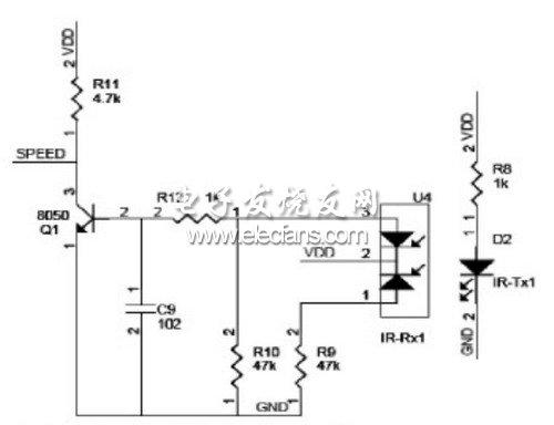 红外对管电路原理图