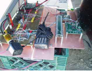 图 8:通过汽车点烟器在 12Vdc 时对 Ham无线电收发报机充电
