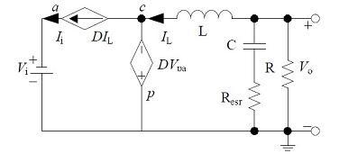 非隔离负电压Buck开关电源CCM大信号模型