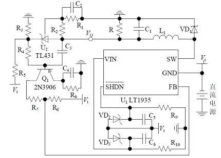 非隔离负电压DC/DC开关电源硬件电路图